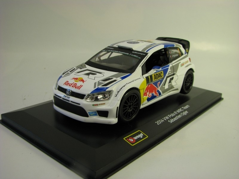 Volkswagen Polo Red Bull WRC Team 2014 No.1 Ogier 1:32 Bburago